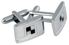 mankiecików połączenia osrebrzają biel Zdjęcia Royalty Free