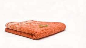 mankiecik łączy pomarańczowego ręcznika Obrazy Stock