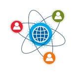 Mankind and Person conceptual logo, unique vector symbol Stock Image