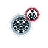Mankind and Person conceptual logo, unique vector symbol created Stock Image