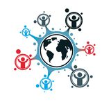 Mankind and Person conceptual logo, unique vector symbol created Royalty Free Stock Photos