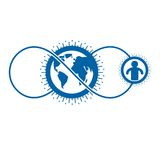 Mankind and Person conceptual logo, unique vector symbol created Royalty Free Stock Photo