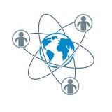 Mankind and Person conceptual logo, unique vector symbol created Stock Photography