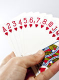 Mankind playing the poker card Stock Photo