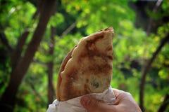 Mankousheh,黎巴嫩早餐 免版税库存照片