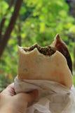 Mankousheh, desayuno libanés Foto de archivo libre de regalías