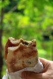 Mankousheh libanesisk frukost Arkivbild
