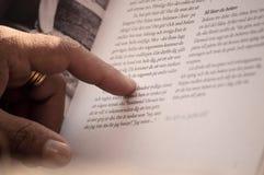 Manläsning Arkivbild