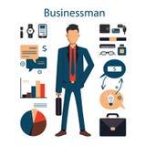 manlig affärsman royaltyfri illustrationer