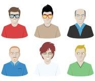 Manlig Avataruppsättning Royaltyfri Illustrationer
