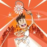 Manlig badmintonspelare Arkivbilder