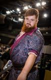 Manlig cosplayer på Yorkshire Cosplay lurar Royaltyfri Foto