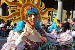 Manlig dansare Aalst Carnival Royaltyfri Bild
