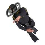 manlig dykare för tolkning 3D på vit Royaltyfri Fotografi