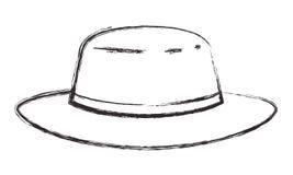 Manlig elegant hattsymbol stock illustrationer