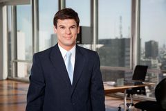 Manlig entreprenör Smiling Royaltyfria Foton