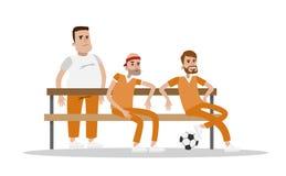 Manlig fängelseinre royaltyfri illustrationer