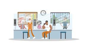 Manlig fängelseinre vektor illustrationer
