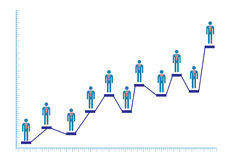 manlig för doktor för stångdiagram stock illustrationer