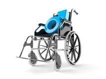 Manlig genus med rullstolen vektor illustrationer
