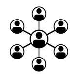 Manlig grupp för partnerskapsymbolsvektor av personsymbolavataren för affärsstyrgruppnätverk vektor illustrationer