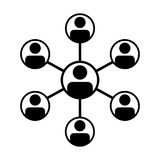 Manlig grupp för partnerskapsymbolsvektor av personsymbolavataren för nätverk för lag för affärsstyrgruppnätverk vektor illustrationer