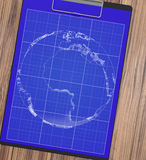 Manlig hand med pennritningen planet Arkivfoto