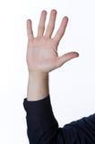 Manlig hand som ut sträcker Royaltyfri Bild