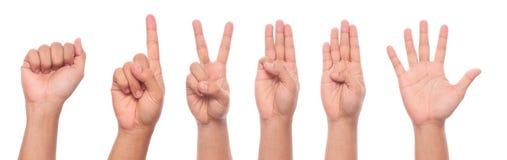 Manlig handgest och teckensamling Arkivbild