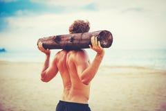 Manlig idrottsman nen Exercising Outdoors royaltyfri fotografi