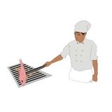 Manlig kock Fotografering för Bildbyråer