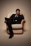 Manlig modell för mode Royaltyfri Fotografi