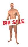 Manlig modell för stor försäljning Fotografering för Bildbyråer