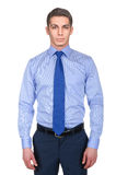 Manlig modell med skjortan Royaltyfri Bild
