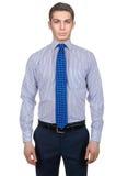 Manlig modell med skjortan Arkivfoton
