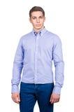 Manlig modell med skjortan Arkivfoto