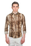 Manlig modell med skjortan Arkivbild
