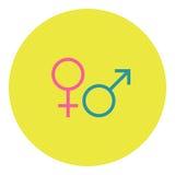 Manlig och kvinnlig symbol Arkivbilder