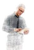 Manlig programmerare med minnestavlaPC Royaltyfri Fotografi
