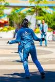 Manlig Rockabilly dansare Back Jean Yoyogi Park Tokyo Royaltyfria Foton