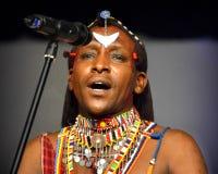 Manlig sångare From Kenya Arkivfoton