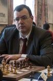 Manlig schackspelare Arkivbilder