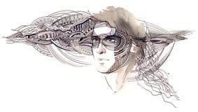 Manlig skönhet stock illustrationer