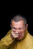 Manlig stående med groteska sinnesrörelser Fotografering för Bildbyråer