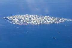 Manlig `-stad - huvudstad av Maldiverna Fotografering för Bildbyråer