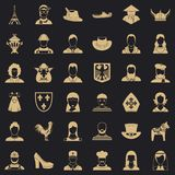 Manlig symbolsupps?ttning, simlestil stock illustrationer