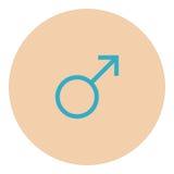 Manlig symbolsymbol Royaltyfria Foton