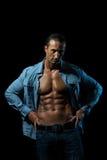 Manlig torso Fotografering för Bildbyråer