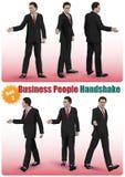 Manlig uppsättning 2 för handskakning för affärsfolk Arkivfoto