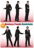 Manlig uppsättning för handskakning för affärsfolk Royaltyfria Bilder
